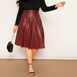 1b86dd6d89 Women Faux Leather Skirt Plus Size on Poshmark